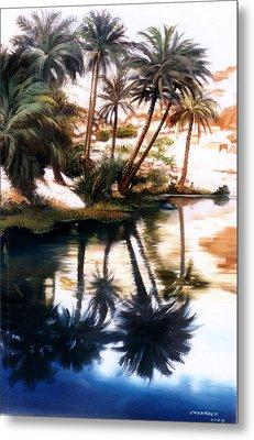 Metal Print featuring the painting Land Scape by Chonkhet Phanwichien