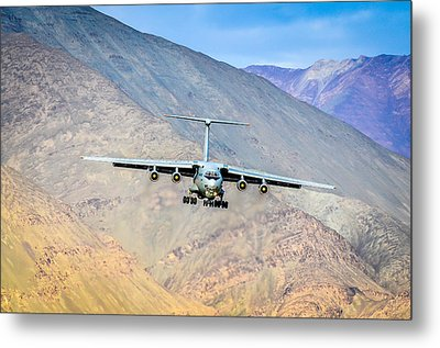 Landing At Leh Metal Print by Krishnaraj Palaniswamy