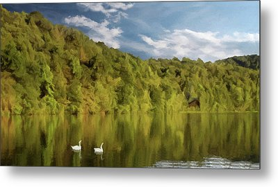 Metal Print featuring the photograph Landingville Lake Pennsylvania by David Dehner