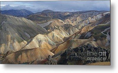 Landmannalaugar Rhyolite Mountains Iceland Metal Print
