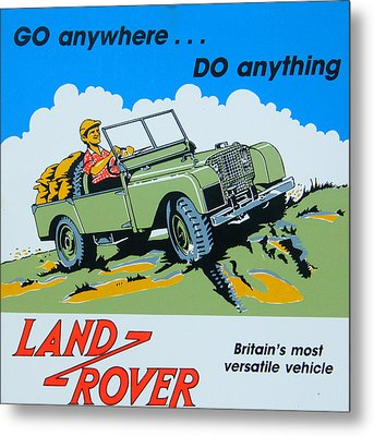 Landrover Advert - Go Anywhere.....do Anything Metal Print by Georgia Fowler