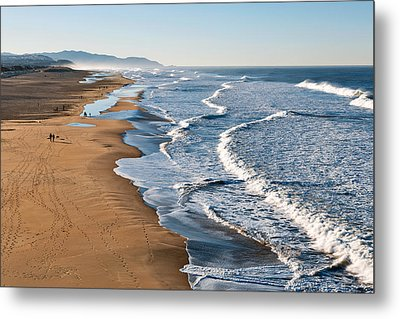 Lands End Beach Metal Print by Nicolas Raymond