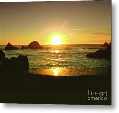 Lands End Sunset-the Golden Hour Metal Print