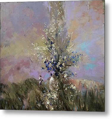 Metal Print featuring the painting Landscape . I Was Lucky Today. by Anastasija Kraineva