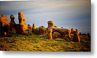 Landscape Arch 2 Metal Print by Mickey Clausen