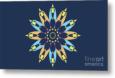 Landscape Blue Background Abstract Star Metal Print