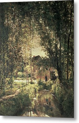 Landscape Metal Print by Charles Francois Daubigny