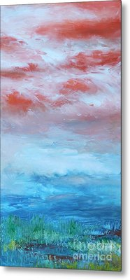 Metal Print featuring the painting Landscape El Natural by Terri Thompson