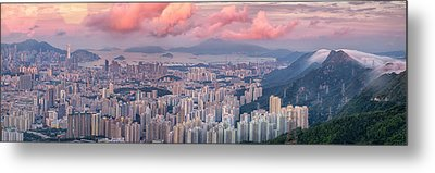 Landscape For Hong Kong City Metal Print by Anek Suwannaphoom
