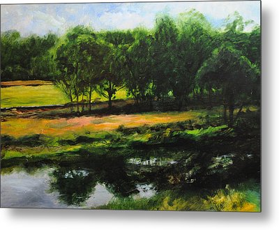 Metal Print featuring the painting Landscape In North Wales by Harry Robertson