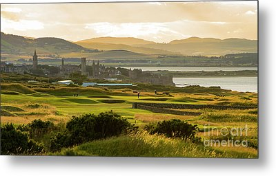 Landscape Of St Andrews Home Of Golf Metal Print by MaryJane Armstrong