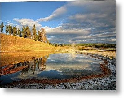 Landscape Of Yellowstone Metal Print by Philippe Sainte-Laudy Photography