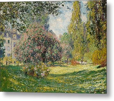 Landscape  The Parc Monceau, 1876  Metal Print by Claude Monet