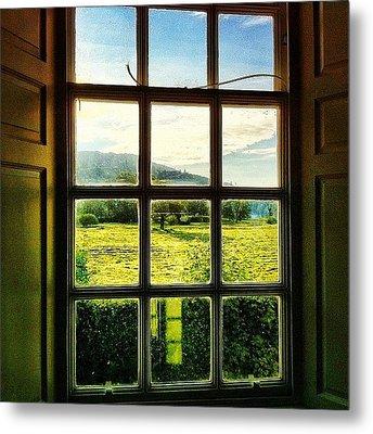 #landscape #window #beautiful #trees Metal Print by Samuel Gunnell