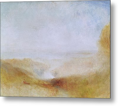 Landscape With A River And A Bay In The Distance Metal Print by Joseph Mallord William Turner
