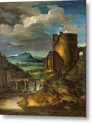 Landscape With A Tomb  Metal Print by Theodore Gericault