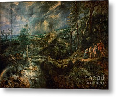 Landscape With Philemon And Baucis Metal Print by Celestial Images