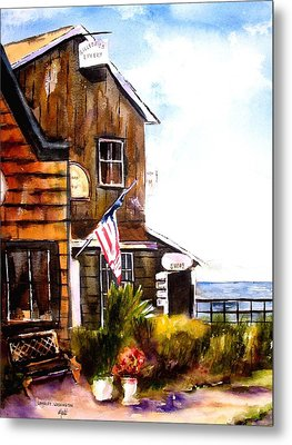 Metal Print featuring the painting Langley Washington by Marti Green