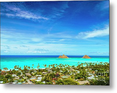 Metal Print featuring the photograph Lanikai Beach From The Pillbox Trail by Aloha Art