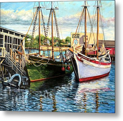 Lannon And Ardelle Gloucester Ma Metal Print by Eileen Patten Oliver