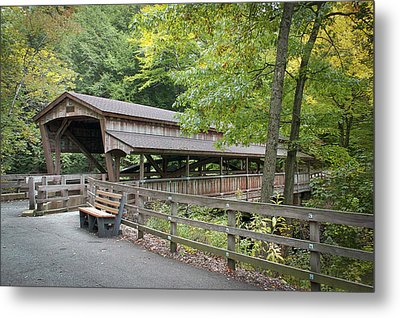 Lanterman's Mill Covered Bridge Metal Print