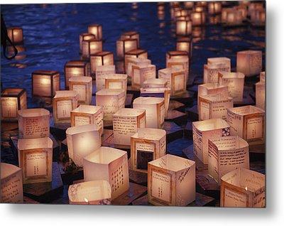 Lantern Floating Ceremony Metal Print by Brandon Tabiolo - Printscapes