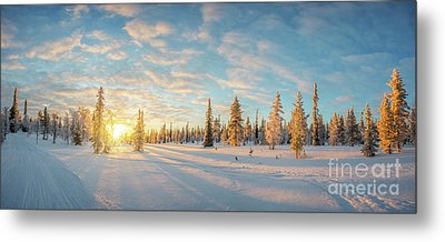 Metal Print featuring the photograph Lapland Panorama by Delphimages Photo Creations