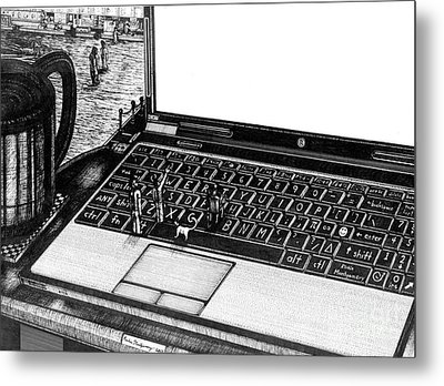 Laptop Metal Print by Richie Montgomery