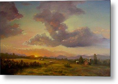 Larch Hill Sunset Metal Print by Kevin Palfreyman