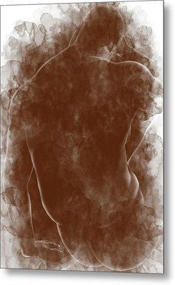 Large Man Backside Metal Print by Peter J Sucy