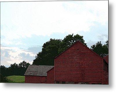 Large Red Barn Metal Print