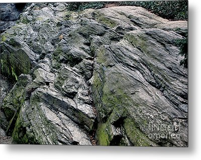 Large Rock At Central Park Metal Print