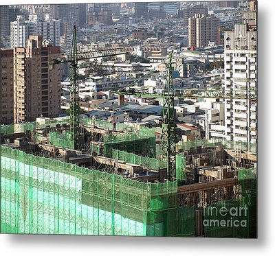 Large Scale Construction Site Metal Print by Yali Shi