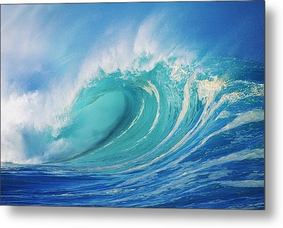 Large Wave Curling Metal Print by Ron Dahlquist - Printscapes