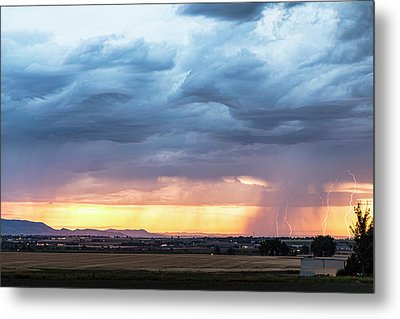 Larimer County Colorado Sunset Thunderstorm Metal Print by James BO Insogna