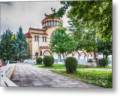 Larissa Old City Church Metal Print by Jivko Nakev