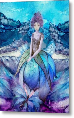 Metal Print featuring the painting Larmina by Mo T