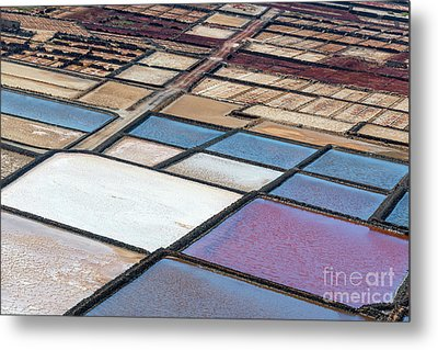 Metal Print featuring the photograph Las Salinas by Delphimages Photo Creations