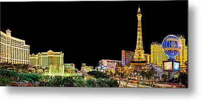 Las Vegas At Night Metal Print by Az Jackson