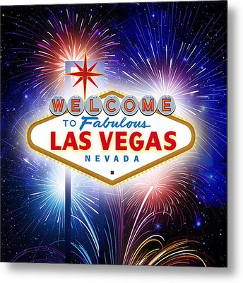 Las Vegas In Optima Forma Metal Print
