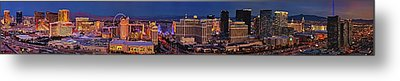 Metal Print featuring the photograph Las Vegas Panoramic Aerial View by Susan Candelario