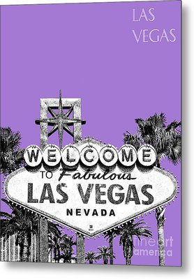 Las Vegas Sign - Purple Metal Print by DB Artist
