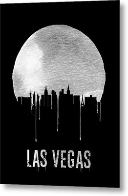Las Vegas Skyline Black Metal Print