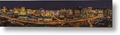 Las Vegas Strip Metal Print by Roman Kurywczak