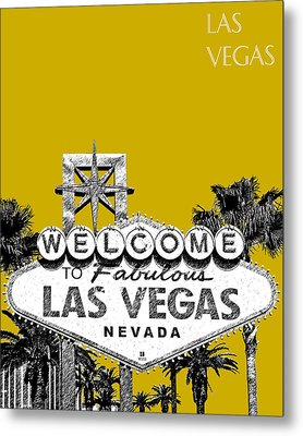 Las Vegas Welcome To Las Vegas - Gold Metal Print by DB Artist