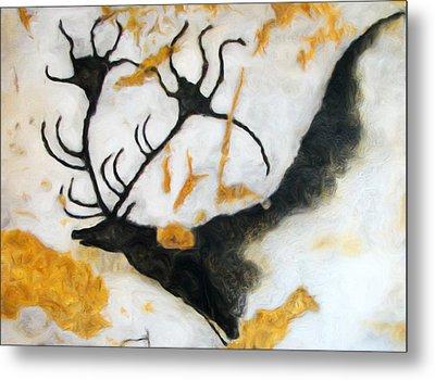 Lascaux Megaceros Deer 2 Metal Print