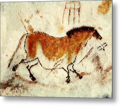 Lascaux Prehistoric Horse Metal Print