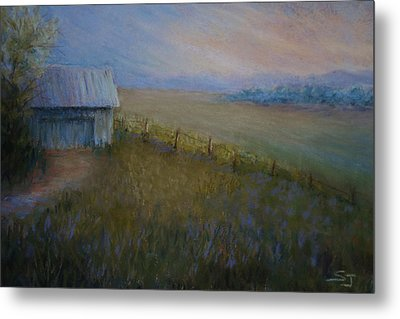 Last Farm Light Metal Print by Susan Jenkins