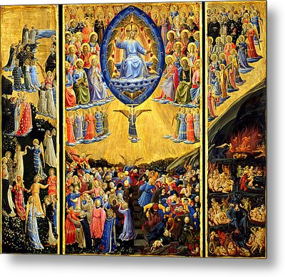 Last Judgment Winged Altar  Metal Print by Fra Angelico
