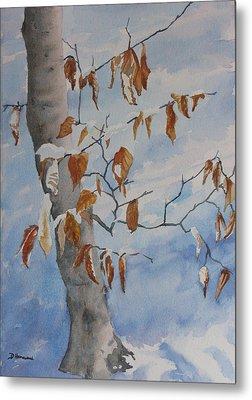 Last Leaves Metal Print by Debbie Homewood